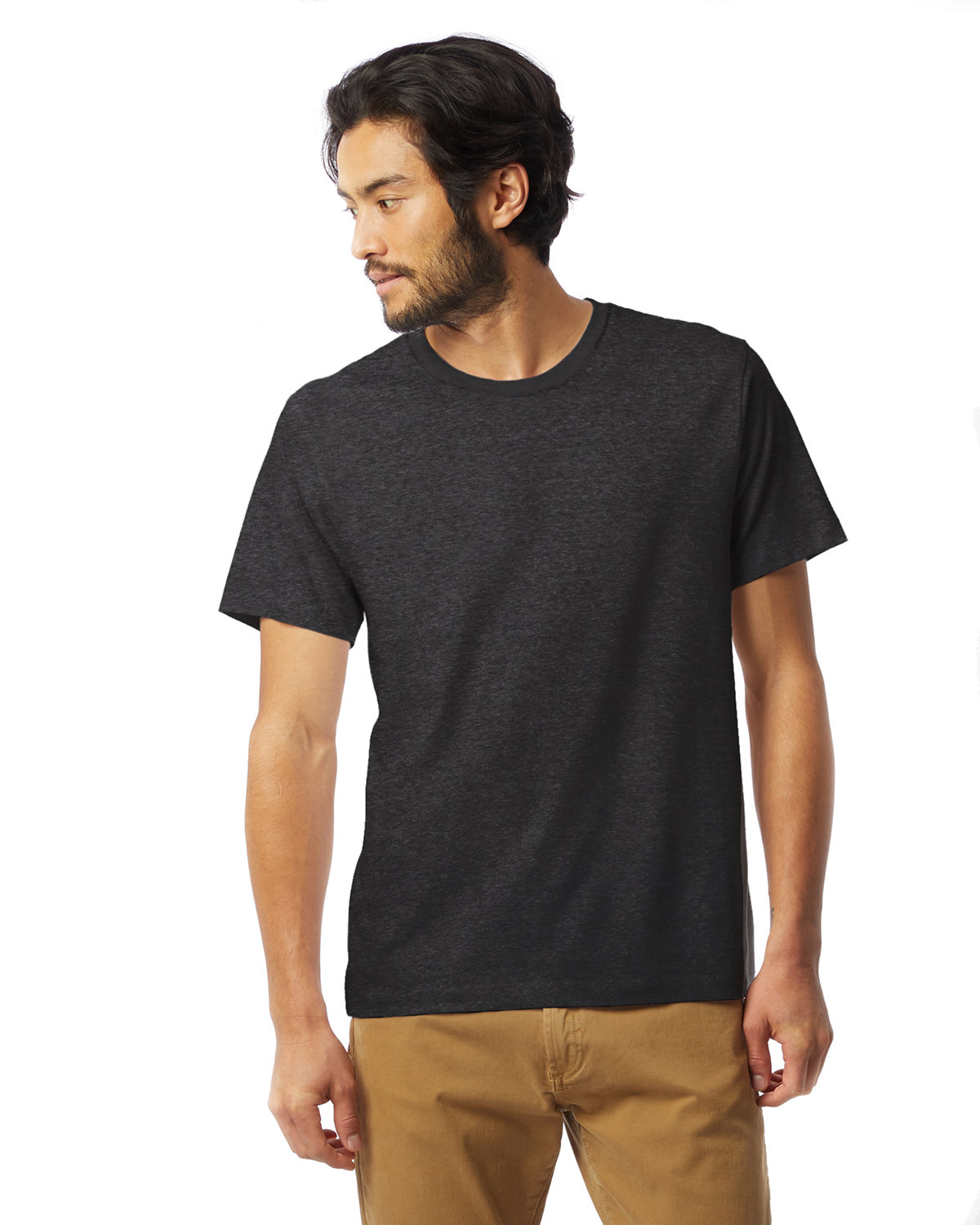 Alternative Unisex Go-To T-Shirt HEATHER BLACK