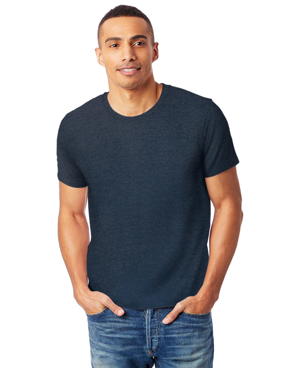 Alternative Unisex Go-To T-Shirt HTHR MDNITE NAVY