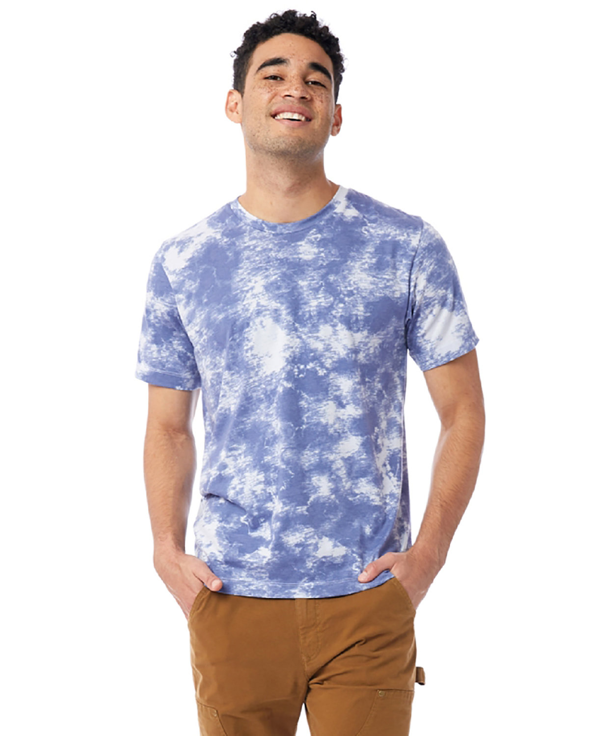 Alternative Unisex Go-To T-Shirt BLUE TIE DYE