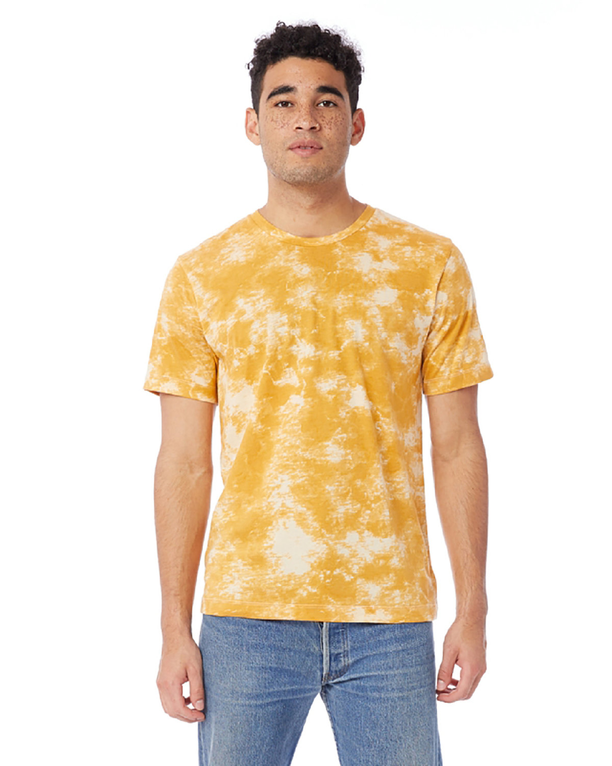 Alternative Unisex Go-To T-Shirt GOLD TIE DYE