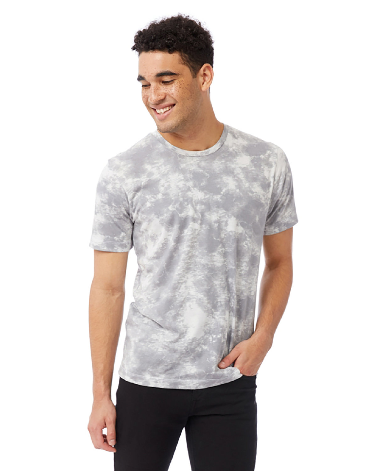 Alternative Unisex Go-To T-Shirt GREY TIE DYE