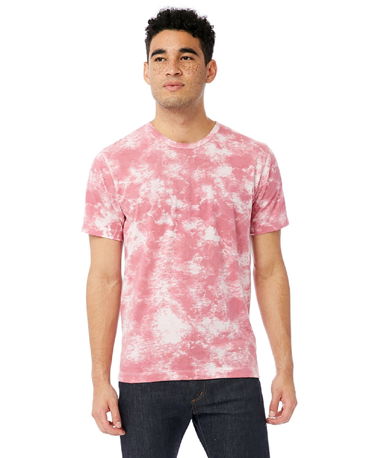 Alternative Unisex Go-To T-Shirt PINK TIE DYE
