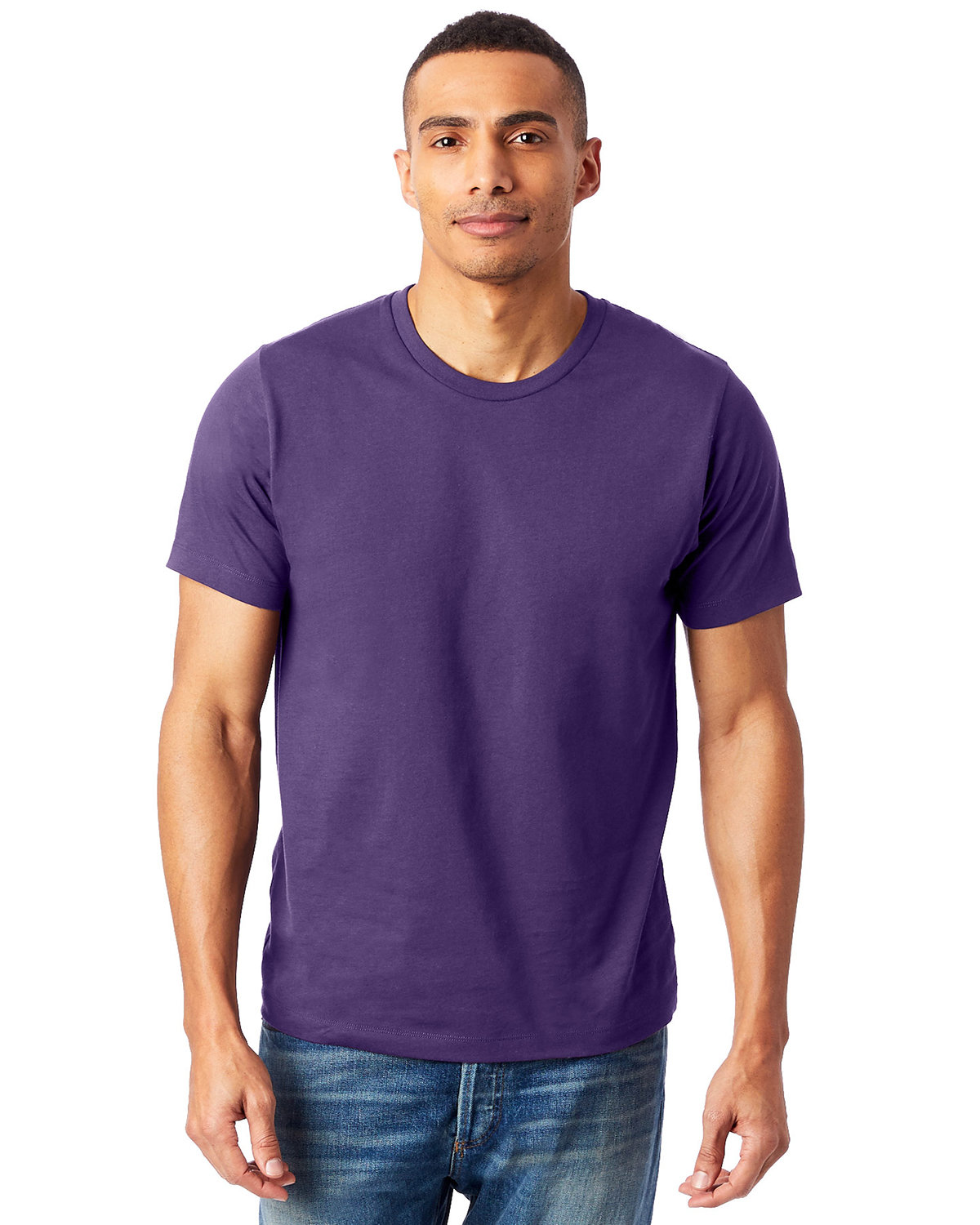 Alternative Unisex Go-To T-Shirt DEEP VIOLET