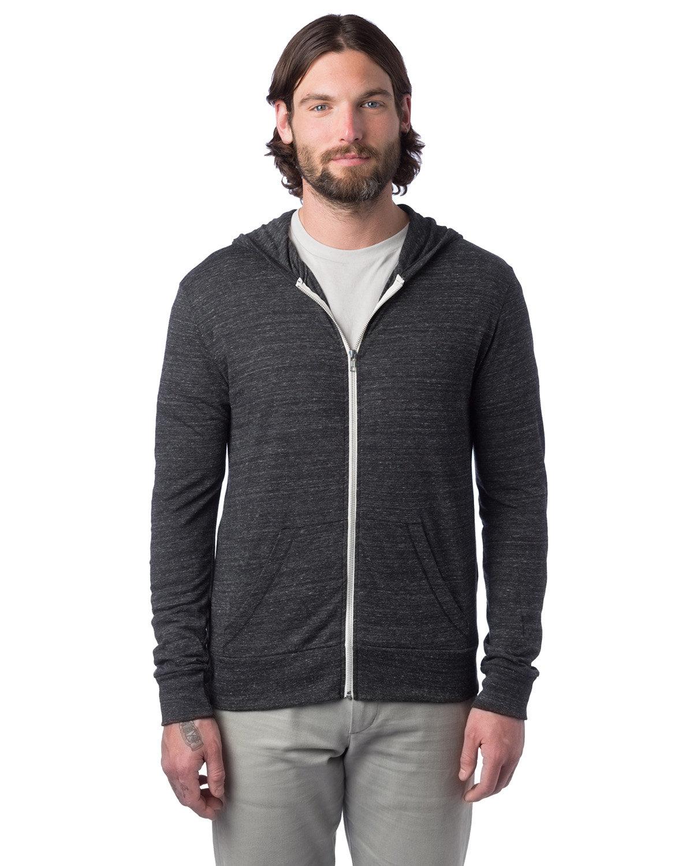 Alternative Unisex Eco-Jersey™ Zip Hoodie ECO BLACK