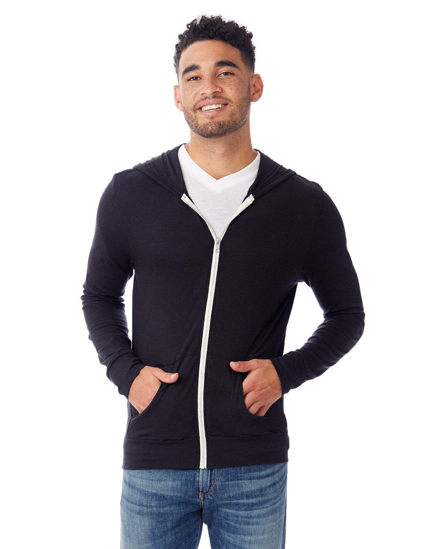Alternative Unisex Eco-Jersey™ Zip Hoodie ECO TR BLACK