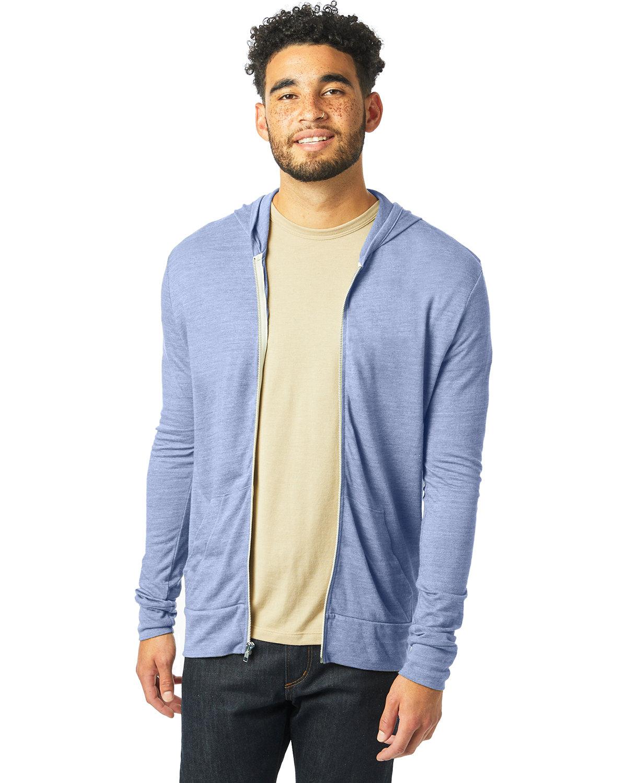 Alternative Unisex Eco-Jersey™ Zip Hoodie ECO PACIFIC BLUE