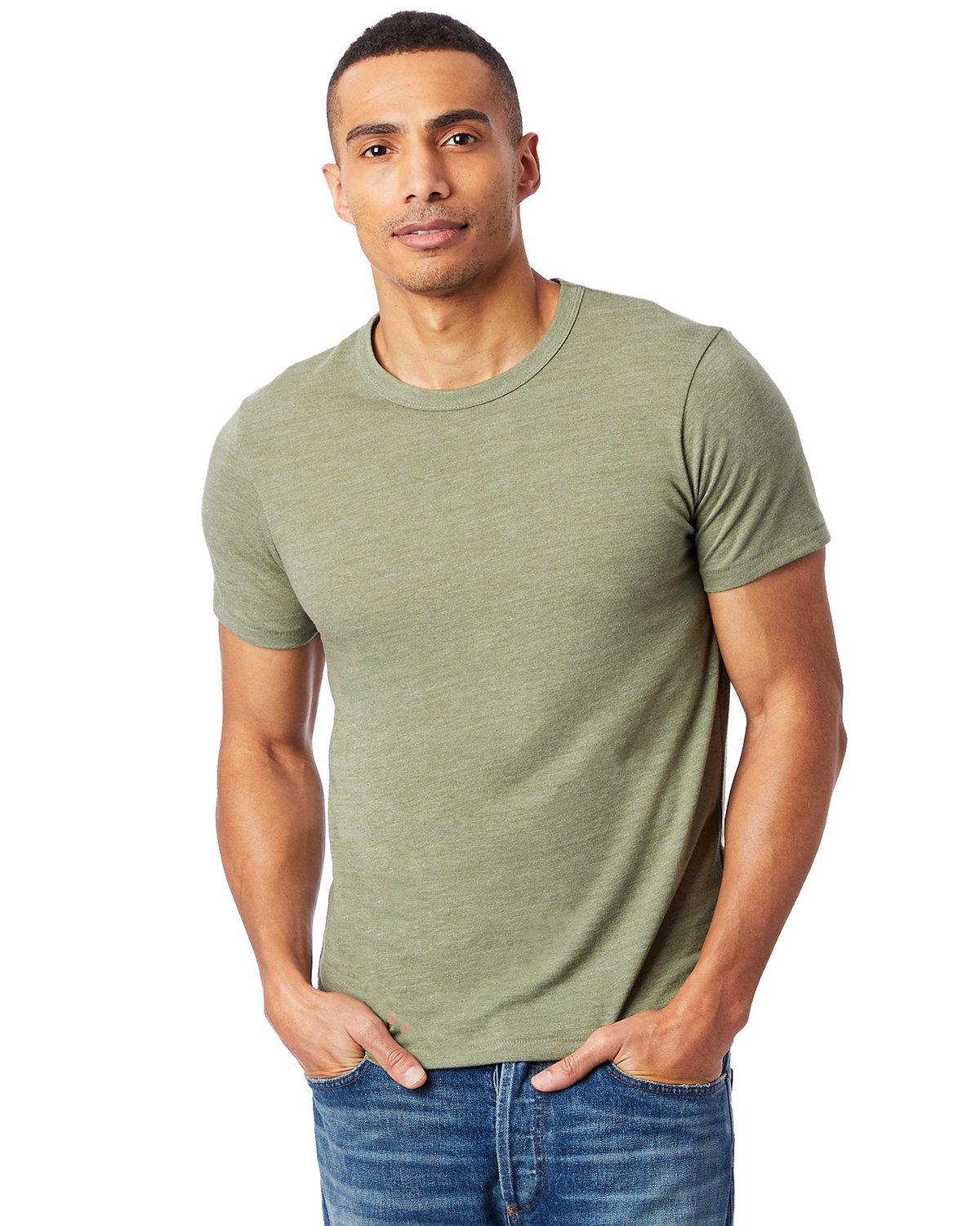 Alternative Unisex Eco-Jersey™ Crew ECO TR ARMY GRN