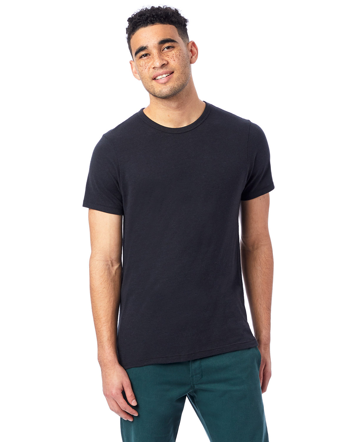 Alternative Unisex Eco-Jersey™ Crew ECO TRUE BLACK