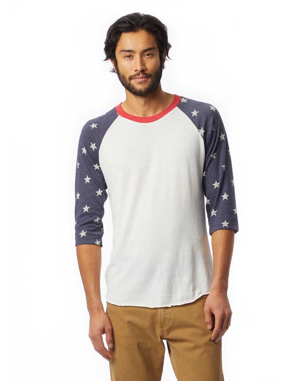 Alternative Unisex Baseball Eco-Jersey™ T-Shirt ECO IVORY/ STARS