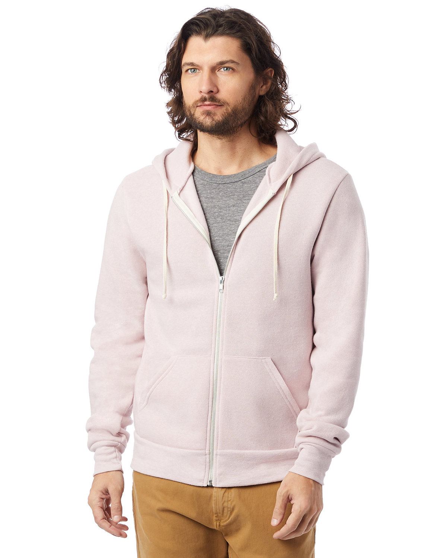 Alternative Men's Rocky Eco-Fleece Zip Hoodie ECO ROSE QUARTZ