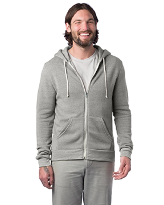 Alternative Men's Rocky Eco-Fleece Zip Hoodie ECO LIGHT GREY
