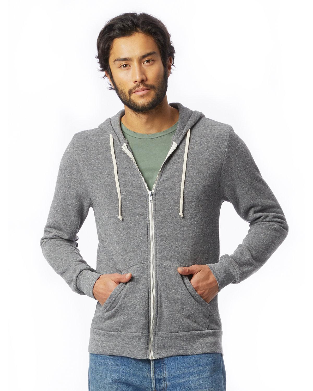 Alternative Men's Rocky Eco-Fleece Zip Hoodie ECO GREY