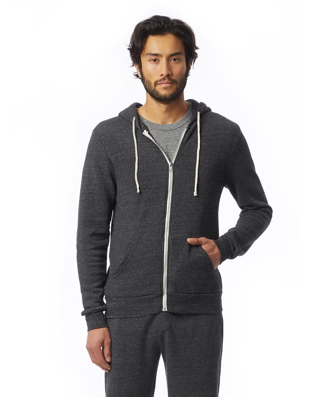 Alternative Men's Rocky Eco-Fleece Zip Hoodie ECO BLACK