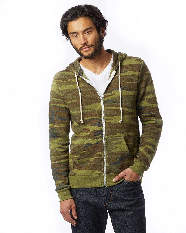 Alternative Men's Rocky Eco-Fleece Zip Hoodie CAMO