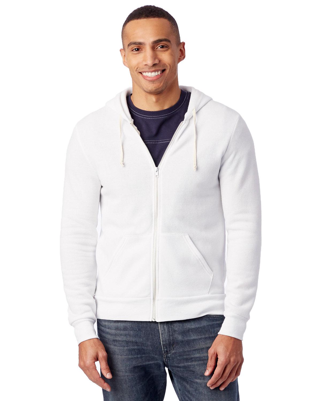 Alternative Men's Rocky Eco-Fleece Zip Hoodie ECO WHITE