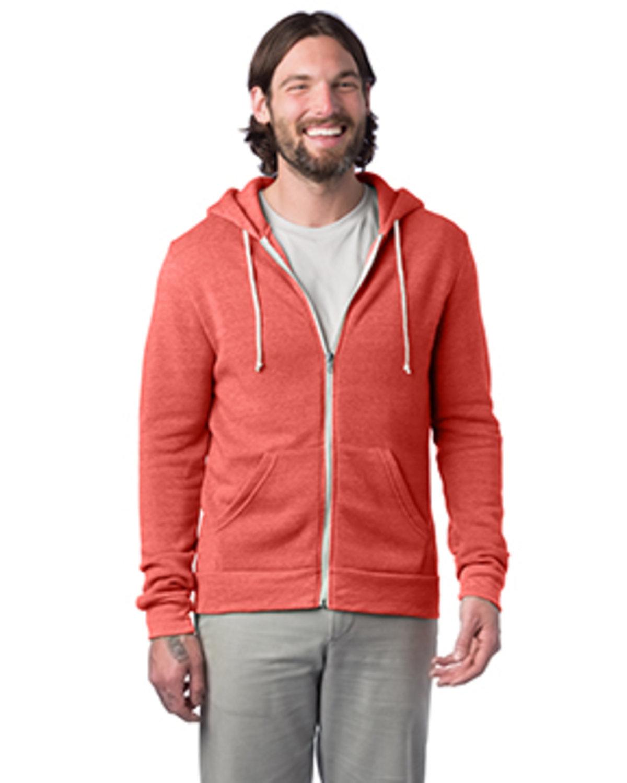 Alternative Men's Rocky Eco-Fleece Zip Hoodie ECO TRUE RED