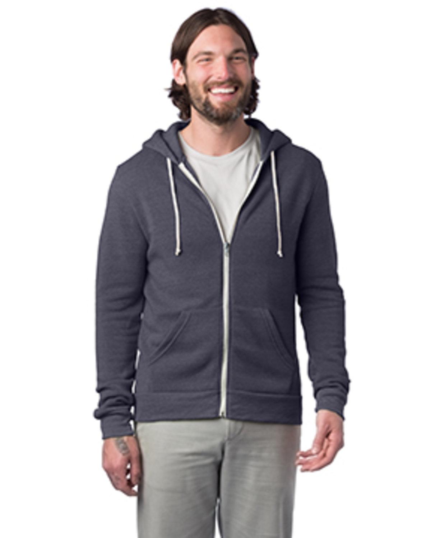 Alternative Men's Rocky Eco-Fleece Zip Hoodie ECO TRUE NAVY
