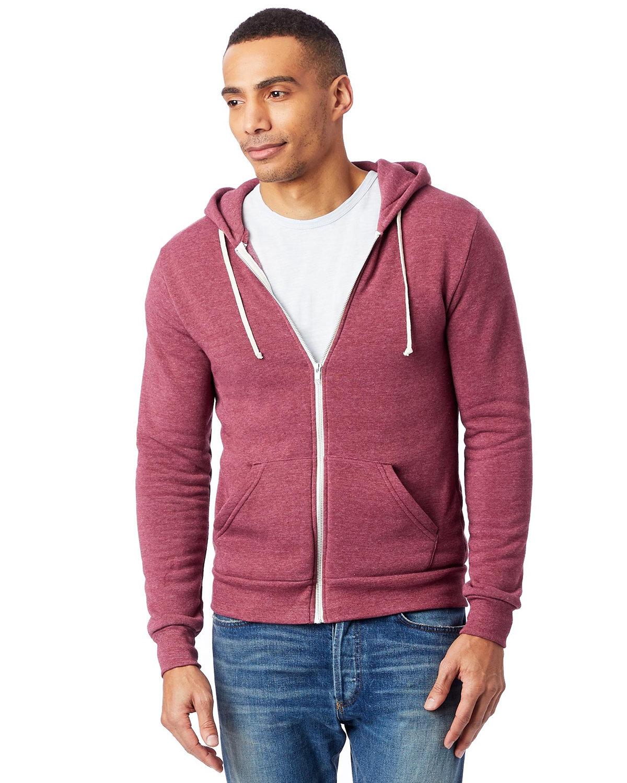 Alternative Men's Rocky Eco-Fleece Zip Hoodie ECO TRUE CURRANT