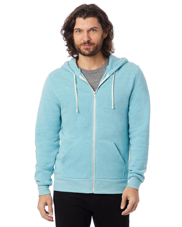Alternative Men's Rocky Eco-Fleece Zip Hoodie ECO AQUA