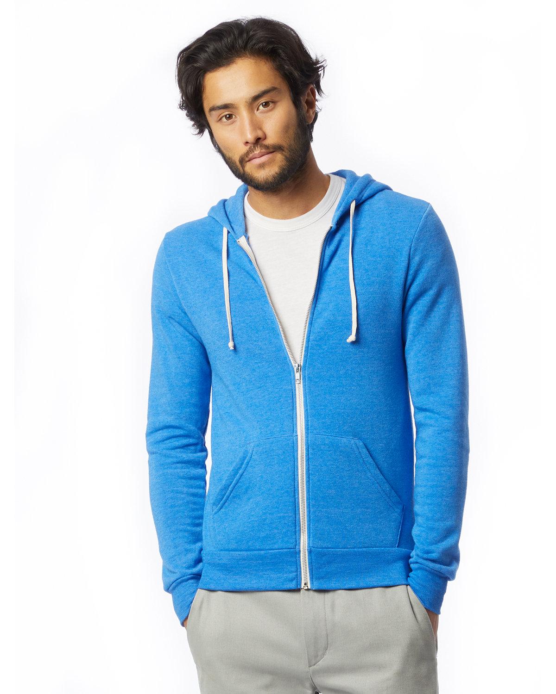 Alternative Men's Rocky Eco-Fleece Zip Hoodie EC TR PACIF BLUE