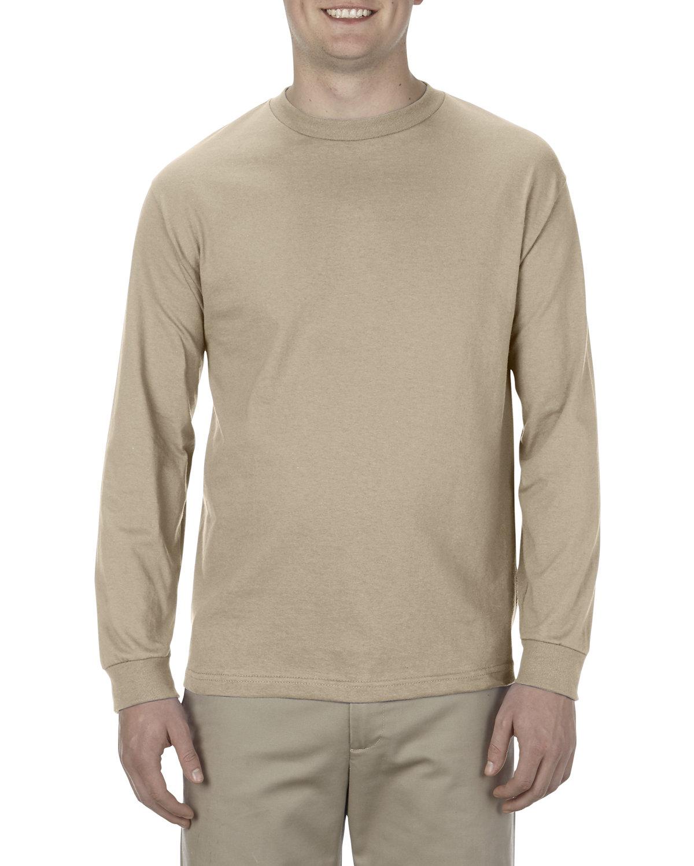 Alstyle Adult 6.0 oz., 100% Cotton Long-Sleeve T-Shirt SAND