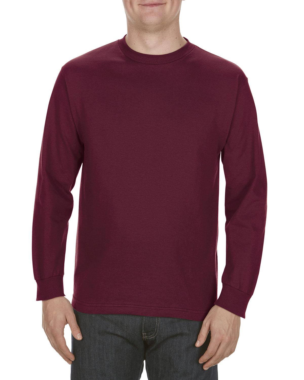 Alstyle Adult 6.0 oz., 100% Cotton Long-Sleeve T-Shirt BURGUNDY