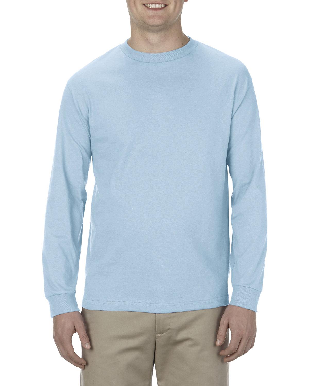 Alstyle Adult 6.0 oz., 100% Cotton Long-Sleeve T-Shirt POWDER BLUE