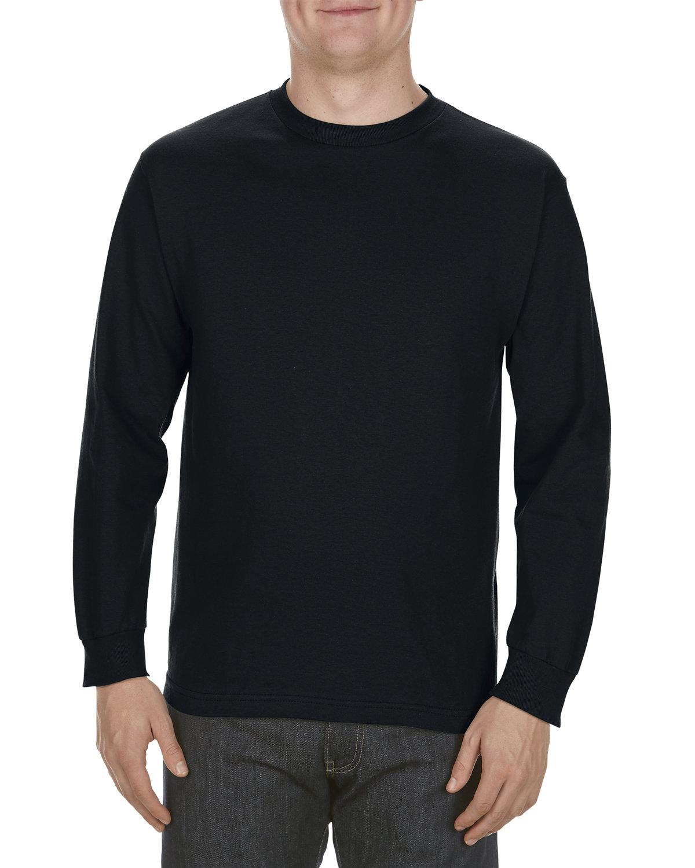 Alstyle Adult 6.0 oz., 100% Cotton Long-Sleeve T-Shirt BLACK