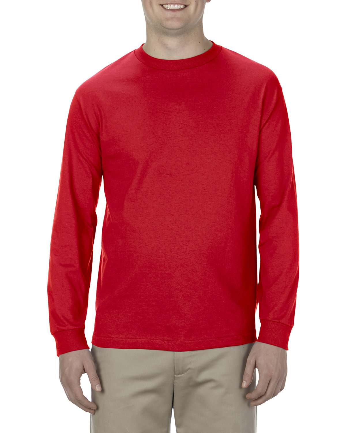 Alstyle Adult 6.0 oz., 100% Cotton Long-Sleeve T-Shirt RED
