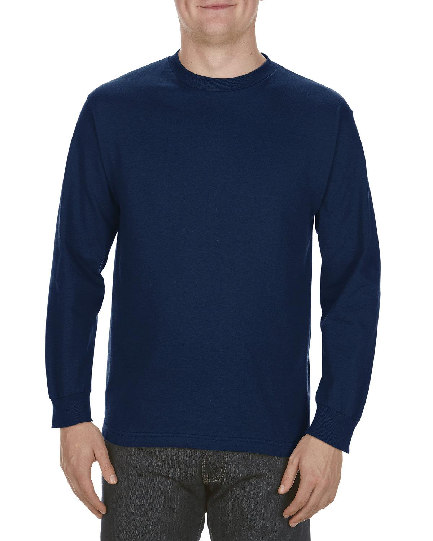 Alstyle Adult 6.0 oz., 100% Cotton Long-Sleeve T-Shirt NAVY