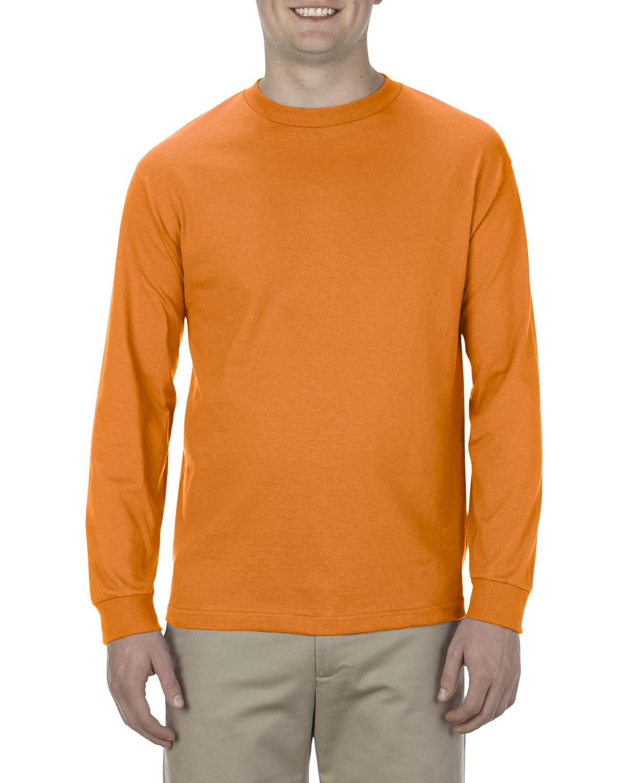 Alstyle Adult 6.0 oz., 100% Cotton Long-Sleeve T-Shirt ORANGE