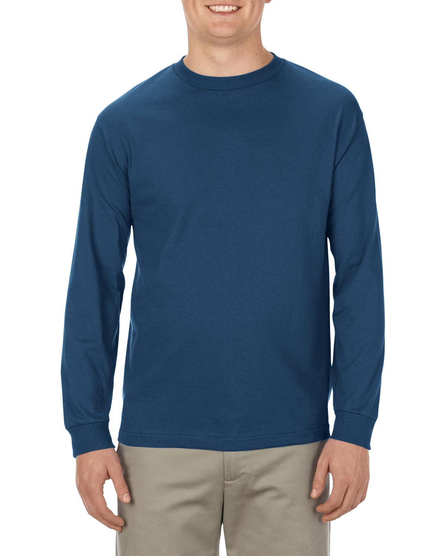 Alstyle Adult 6.0 oz., 100% Cotton Long-Sleeve T-Shirt HARBOR BLUE