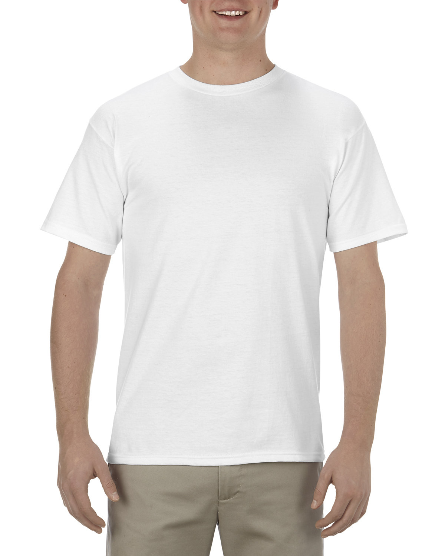 Alstyle Adult 5.5 oz., 100% Soft Spun Cotton T-Shirt WHITE