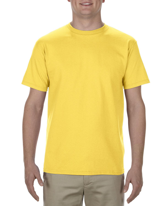 Alstyle Adult 5.5 oz., 100% Soft Spun Cotton T-Shirt YELLOW