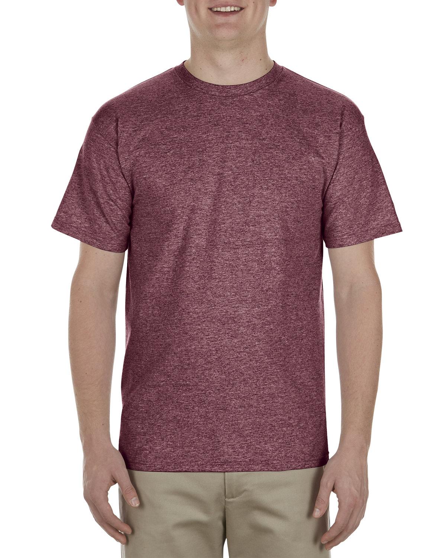Alstyle Adult 5.5 oz., 100% Soft Spun Cotton T-Shirt BURGUNDY HEATHER