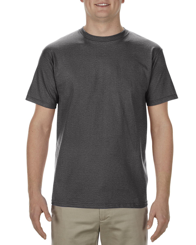 Alstyle Adult 5.5 oz., 100% Soft Spun Cotton T-Shirt CHARCOAL HEATHER