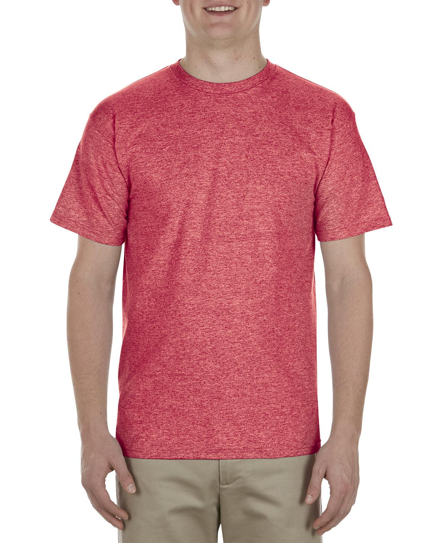 Alstyle Adult 5.5 oz., 100% Soft Spun Cotton T-Shirt RED HEATHER