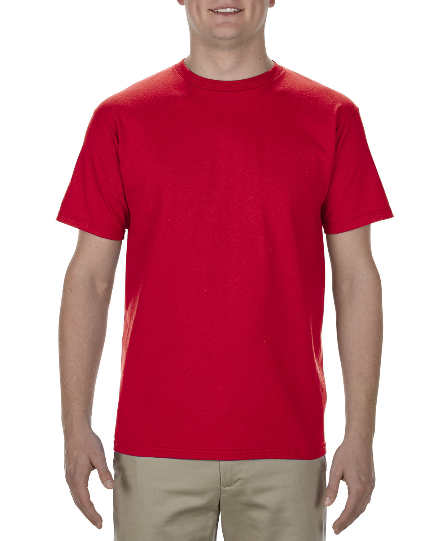 Alstyle Adult 5.5 oz., 100% Soft Spun Cotton T-Shirt RED