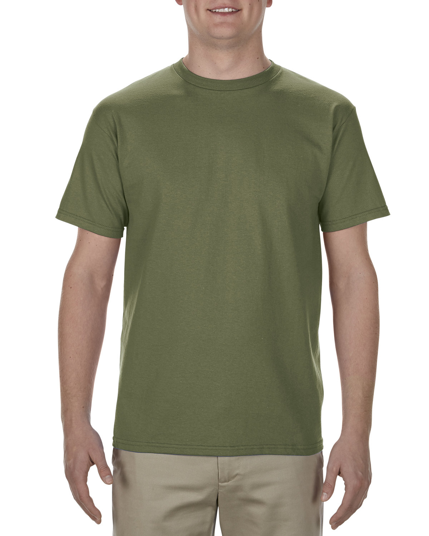 Alstyle Adult 5.5 oz., 100% Soft Spun Cotton T-Shirt MILITARY GREEN