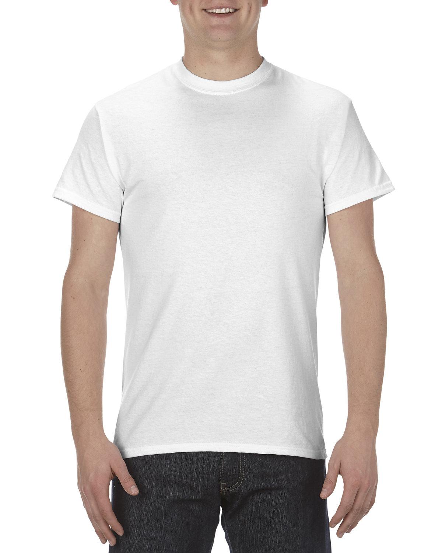 Alstyle Adult 5.1 oz., 100% Cotton T-Shirt WHITE