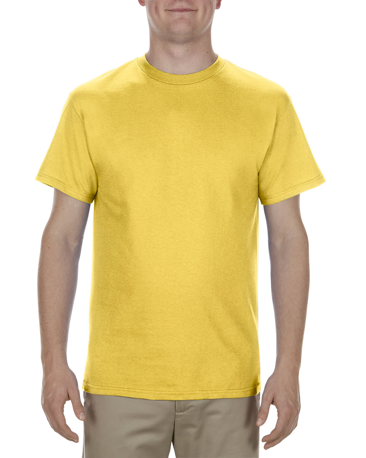 Alstyle Adult 5.1 oz., 100% Cotton T-Shirt YELLOW