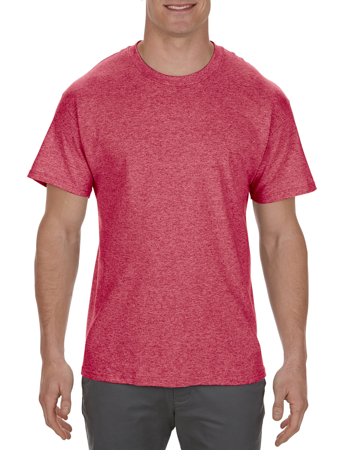 Alstyle Adult 5.1 oz., 100% Cotton T-Shirt RED HEATHER