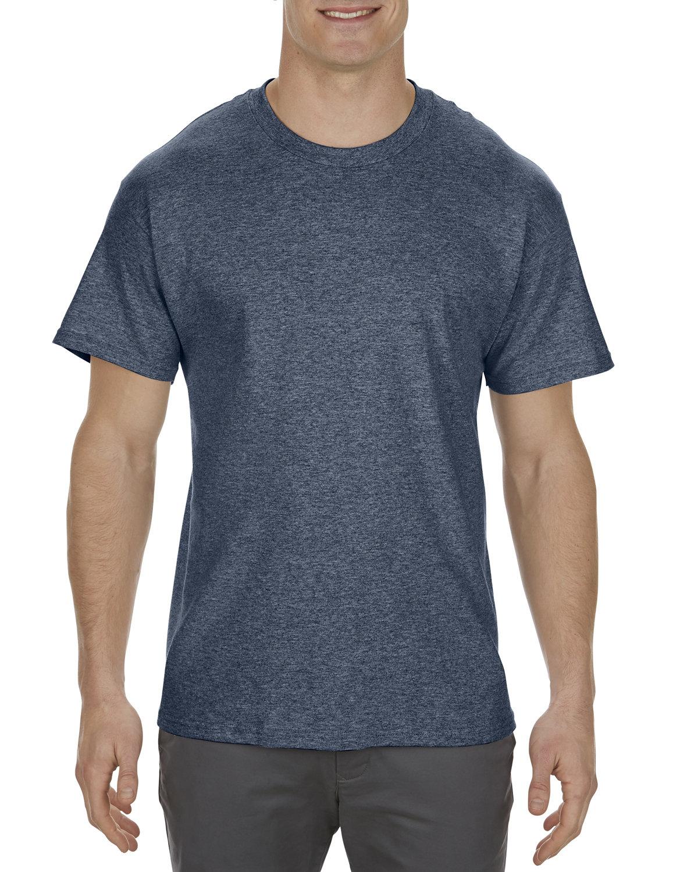 Alstyle Adult 5.1 oz., 100% Cotton T-Shirt NAVY HEATHER