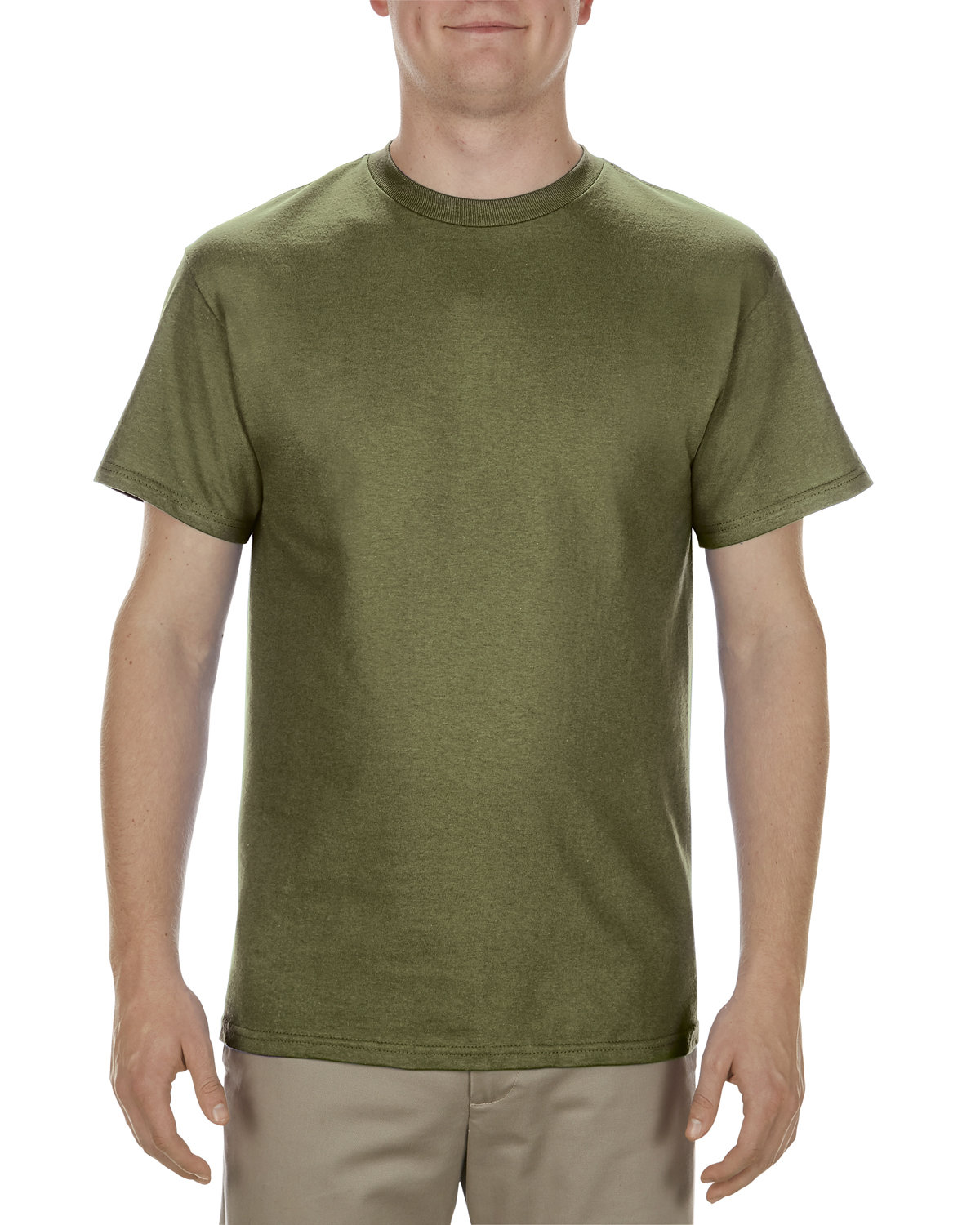 Alstyle Adult 5.1 oz., 100% Cotton T-Shirt MILITARY GREEN