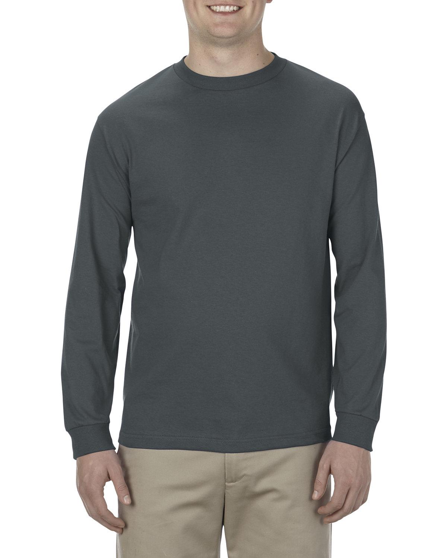 Alstyle Adult 5.1 oz., 100% Soft Spun Cotton Long-Sleeve T-Shirt CHARCOAL
