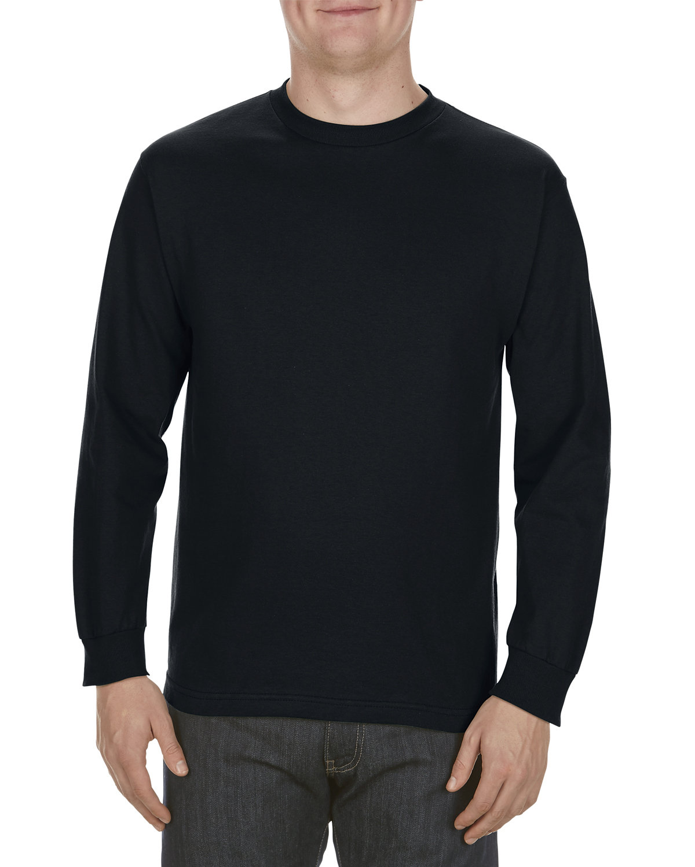 Alstyle Adult 5.1 oz., 100% Soft Spun Cotton Long-Sleeve T-Shirt BLACK
