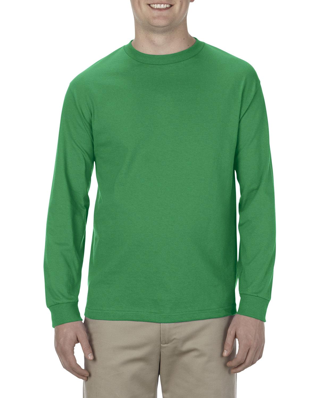 Alstyle Adult 5.1 oz., 100% Soft Spun Cotton Long-Sleeve T-Shirt KELLY