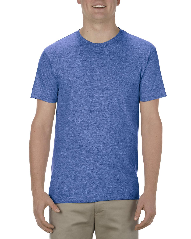 Alstyle Adult 4.3 oz., Ringspun Cotton T-Shirt ROYAL HEATHER