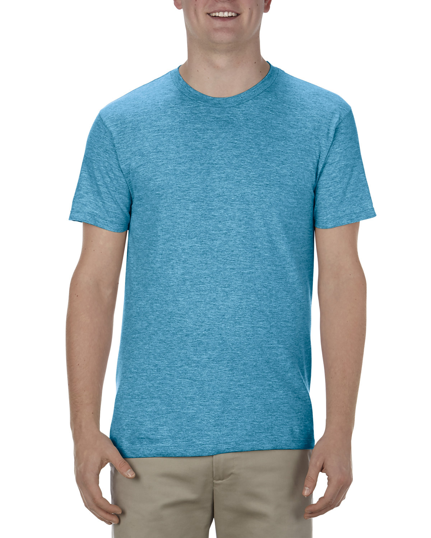 Alstyle Adult 4.3 oz., Ringspun Cotton T-Shirt TURQUOISE HEATHR
