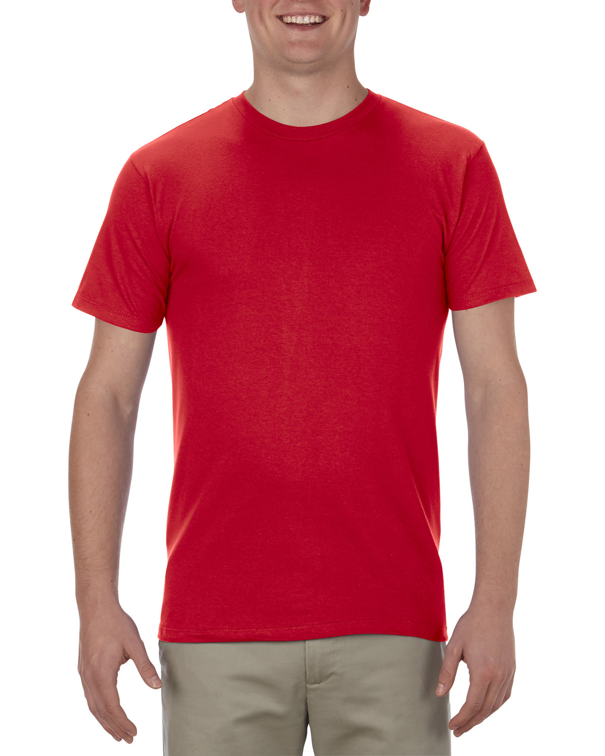 Alstyle Adult 4.3 oz., Ringspun Cotton T-Shirt RED